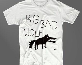 Big Bad Wolf organic adults' t shirt