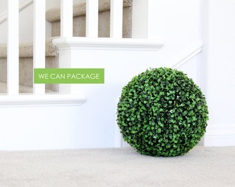 20 Inches Boxwood Ball - Topiary Greenery - Large Artificial Greenery Ball - Rustic Wedding Decor