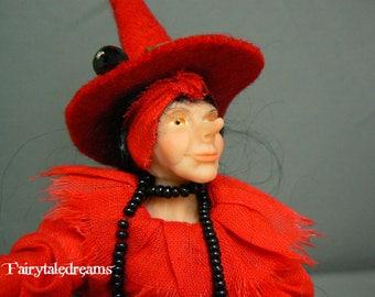 "Dollhouse Doll ""Witch""  1 : 12  OOAK  by  Fairytaledreams"
