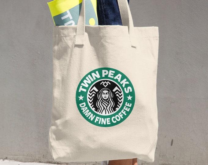 Twin Peaks Tote Bag, Starbucks Damn Fine Coffee