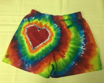 Tie Dye Heart On (TM) Boxers IN STOCK - M
