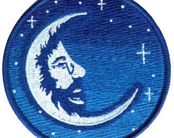 Jerry Moon Embroidered Patch