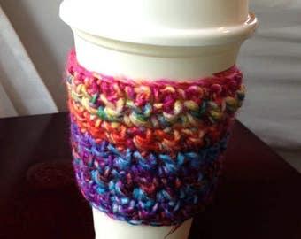 Rainbow Super Soft Coffee Soft Drink Sweet Tea Cozy Sleeve