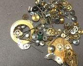 Vintage Watch Parts. Steampunk Supplies. Gears. Watch Components. 1 oz.