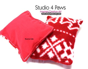 Guinea Pig Luxury Small Pillows - (Red Knit)