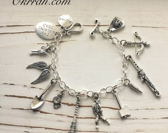 The Walking Dead inspired Charm Bracelet, Lucile, by Okrrah