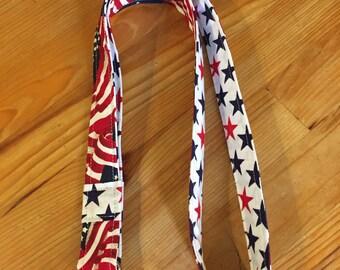 Teacher lanyard, USA lanyard, flag lanyard, Patriotic Lanyard