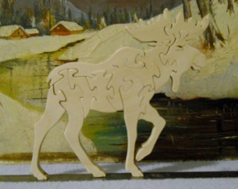 Wooden Moose Puzzle