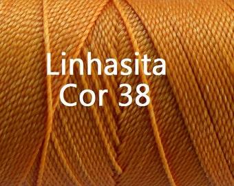 Linhasita Mandarine Orange (Cor 38) for Macrame Jewelry/ Spools/ String/ Hilo