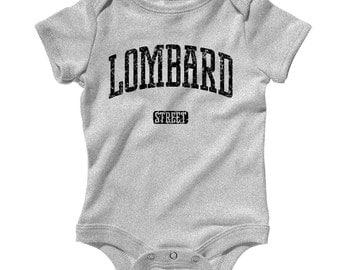 Baby One Piece - Lombard Street San Francisco - Infant Romper - NB 6m 12m 18m 24m - Baby Shower Gift, Presidio, Embarcadero, Telegraph Hill
