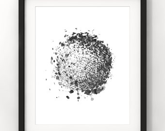 Downloadable Art, Abstract, Splatter, Home Decor, Abstract Art, Minimalist Art, Modern Art, Contemporary Art, Printable Download