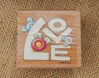 LOVE Rubber Stamp by ME.E.Inc    ~  LOVE Rubber Stamp