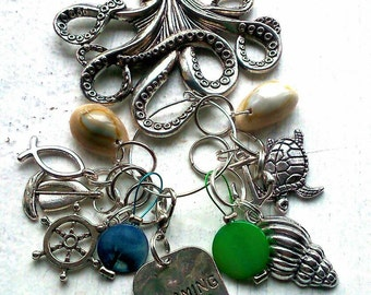 Knitting Stitch Marker Keeper Under the Sea (for knitting)