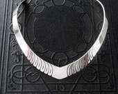 Vintage Sterling Collar Necklace. Steve Yellowhorse.