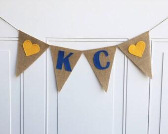 Kansas City Royals, Baseball Banner, KC Banner, Kansas City Decor, Kansas City Gift, Wall Hanging, Kansas City Royals Decorations, Sign