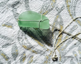 Seaglass Sterling Silver, Pendant Necklace