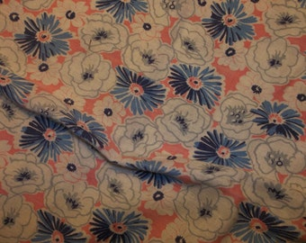 "Beautiful Vintage FLORAL FEED Sack Tablecloth...39"" Square...Perfect Condition...FREE Shipping"