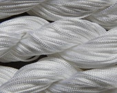 1mm White Braided Nylon Knotting Cord For Knotting, Braiding, Macrame, Mala Making - 24 Meters / 78.74 Feet (INDOC194)