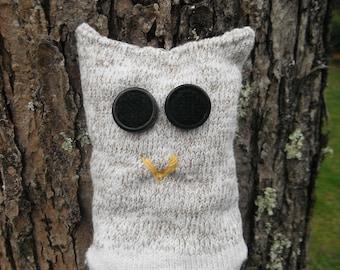 Upcycled Sock Owl