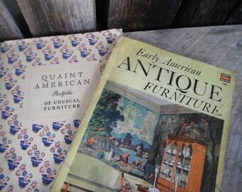 Pair of Vintage Antique Furniture Books - magazines Catalogs