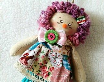Free Shipping ~ Country Doll / Rag Doll / Fabric Doll / Cloth Doll / Soft Doll / Handmade Doll / Textile Doll / Interior Doll / Art Doll
