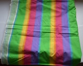 Vintage Spring Industries Ombre Rainbow stripe fabric 5 yards total , sold by yard