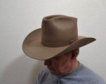 Vintage Resistol XXX Beaver  authentic brown Western Cowboy hat  gift Spring Fashion felt men hat