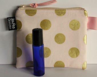 Mini Essential Oil Case, Essential Oil Holder, Rollerball Essential Oil Case, Holds 3+, Essential Oil Pouch for Purse, Small Cosmetic Bag