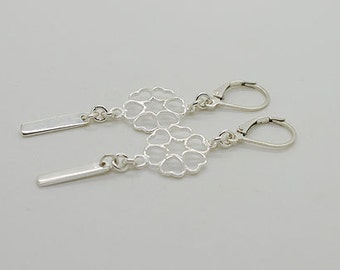 Sterling Silver Leverback Earring S12