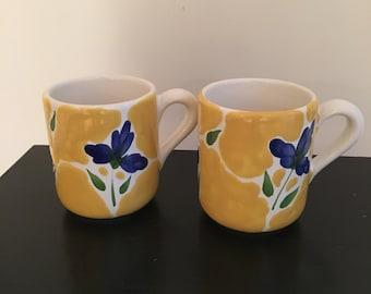 Pair of Dansk St. Tropez Portugal Coffee Mugs