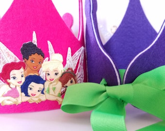 Disney Princess Fairies Birthday Crown- Pixie Party Hat - Tinkerbell Decorations - Fairy Birthday Theme