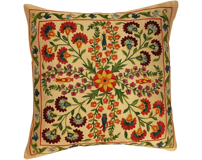 Hand Embroidered Suzani Pillow Cover msp801, Suzani Pillow, Suzani Throw, Boho Pillow, Suzani, Decorative pillows, Accent pillows