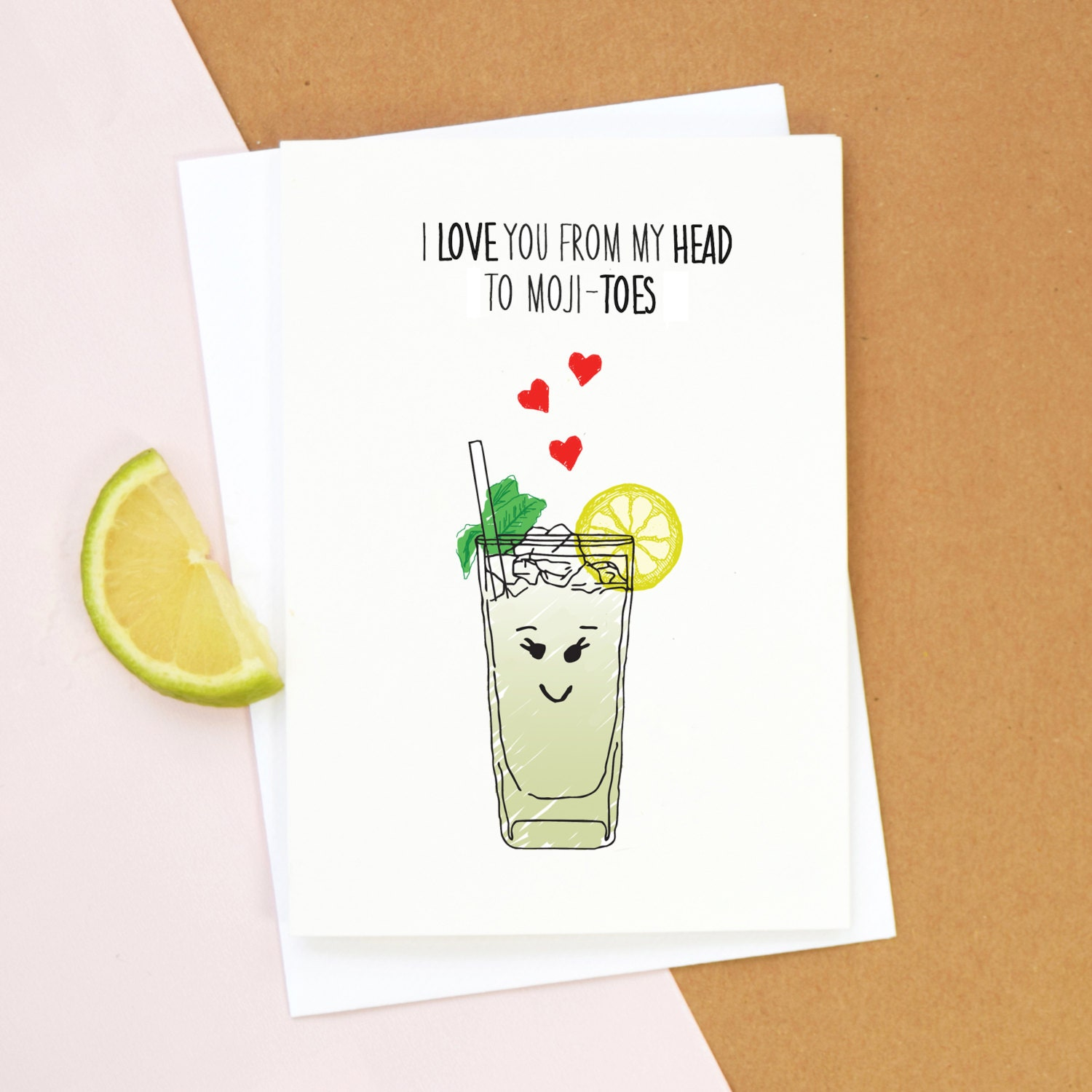 Mojito Valentine s Card Birthday Card Mojito Cocktail