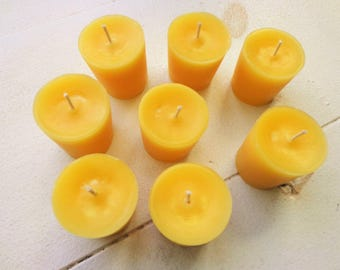 100% Beeswax Votive Candles Set of 10