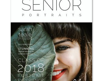 Photoshop Templates, Senior Photography Welcome Guide Magazine, Price Guide, 24 Page Marketing Magazine Template, SMG204