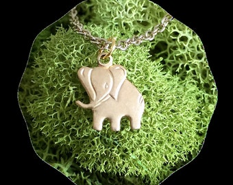Baby elephant necklace - Gold elephant necklace - Cute elephant necklace - Minimalist necklace - Lucky elephant - African Necklace - Jewelry