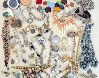 Jewelry Destash for Repurposing, Large 4 Pound Lot