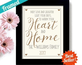 Gift for the Couple New Home Irish Blessing Wedding Gift Housewarming Gift Art Print Heart and Home Gift Family Name Welcome Gift First Home