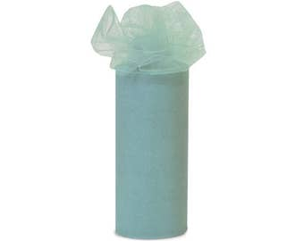 INVENTORY REDUCTION SALE - Tulle 14 Roll Lot - Williamsburg Blue  - 6 Inch x 25 yard rolls