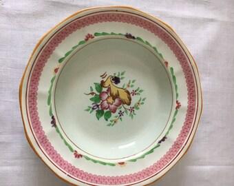"""Calyx Ware Adams China, England Hand painted soup bowls 'Carolynn"""""""