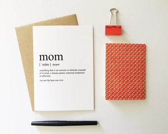Mothers Day Card - Card for Mom - I love you Mom Card - Love Cards - Mothers Day Gift
