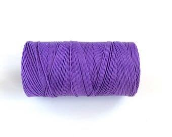 Lavender Linen Thread / Bookbinding Cord / Purple Hemp   /  Lavender Twine