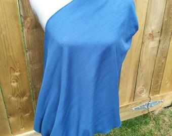 Blue scarf, Nursing scarf, infinity scarf, jersey cotton, sale