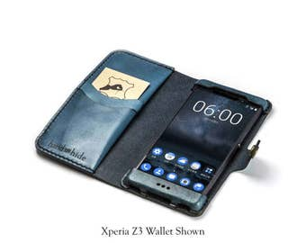 Nokia 6 Wallet Phone Case / leather phone case / Nokia 6 case / handmade Nokia 6 case / personalized phone case / Nokia 6 wallet