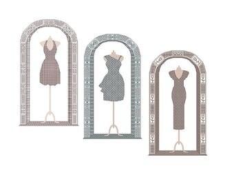 3 for 2 special offer blackwork chart cross stitch pattern dress dresses PDF download