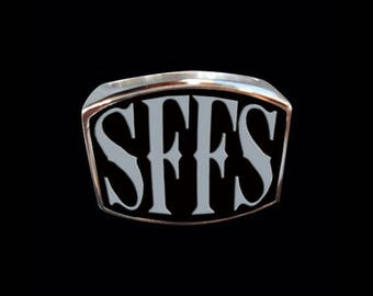 Stainless Steel SFFS Letter Ring - Free Re-Size/Shipping
