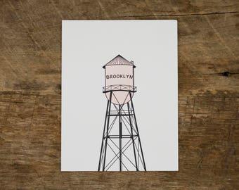 Brooklyn Watertower Card