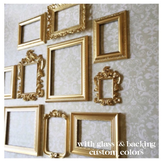 Wall Gallery Frame Set gold picture frame set wall gallery collection of 10