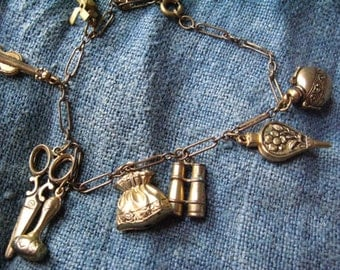 Most Charming Victorian Antique Charm Bracelet