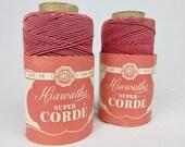 Vintage 1920s Crochet Thread / Cord / Corde, Hiawatha, Two Spools